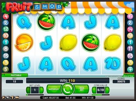 Символы игрового автомата Fruit Shop