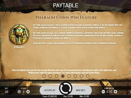 Игровой бонус в Coins of Egypt онлайн