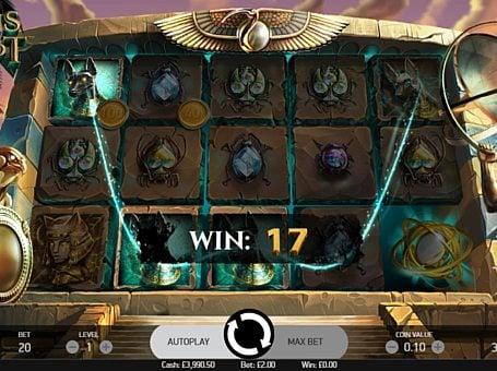 Призовая комбинация с диким знаком в игровом автомате Coins of Egypt