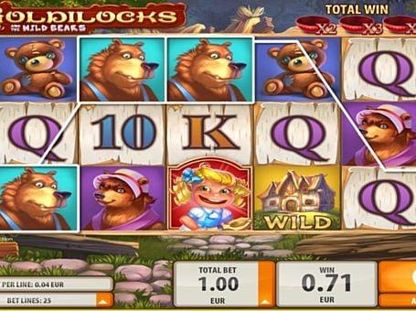 Призовая комбинация на линии в игровом автомате Goldilocks