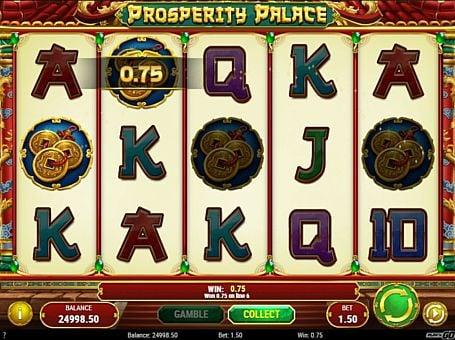 Призовая комбинация символов в игровом автомате Prosperity Palace