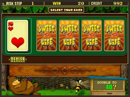 Риск игра на аппарате Sweet life 2
