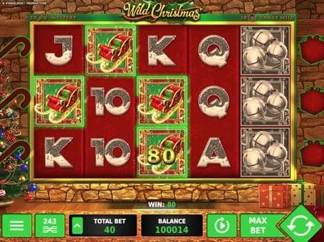 Призовая комбинация на линии в игровом автомате Wild Christmas