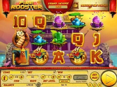 Символы игрового автомата Fire Rooster