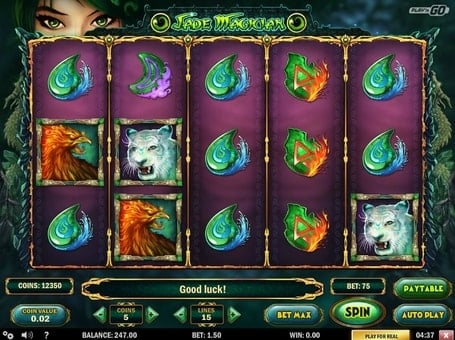 Символы онлайн игрового автомата Jade Magician
