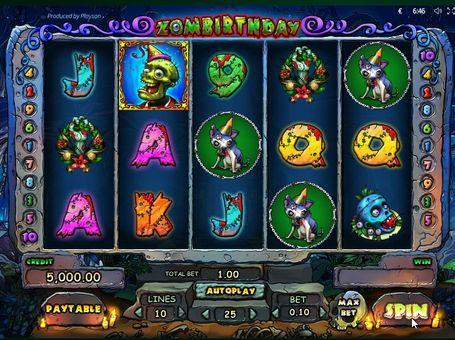Фриспины в игровом автомате Zombirthday