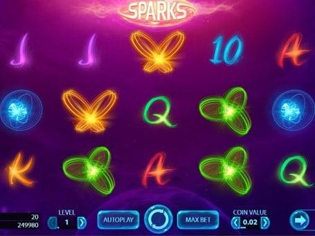 Символы в игровом автомате Sparks