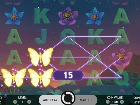 Комбинации на линиях в онлайн слоте Butterfly Staxx