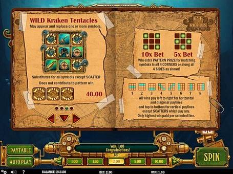 Wild в онлайн слоте Eye of the Kraken