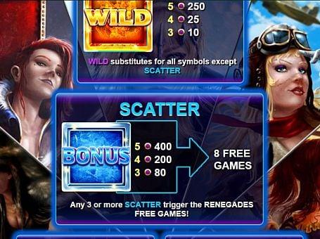 Scatter в онлайн слоте Renegades