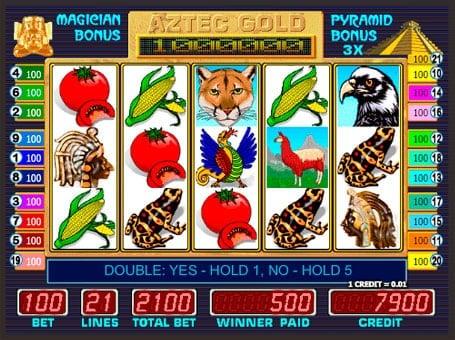 Символы в игровом автомате Aztec Gold