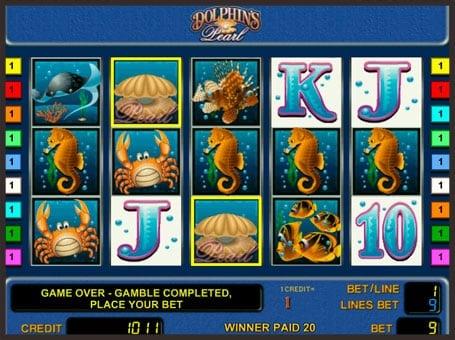 Символы игрового автомата Dolphin's Pearl
