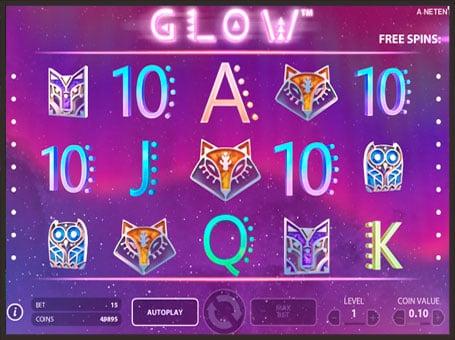 Фриспины в онлайн слоте Glow