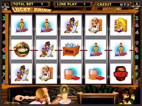 Выигрышная комбинация в игровом автомате Lucky Drink