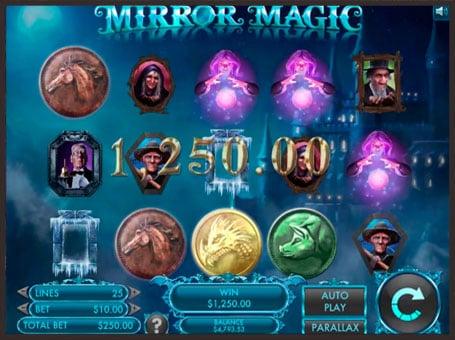 Выигрышная комбинация в онлайн слоте Mirror Magic