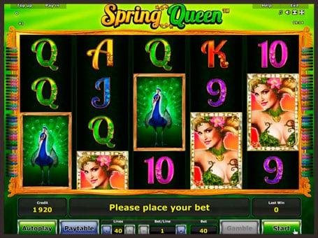 Выигрышная комбинация в автомате Queen of Spring