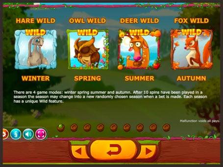 Дикие символы игрового онлайн автомата Seasons