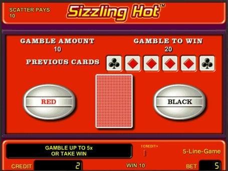 Риск игра на слоте Sizzling Hot