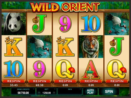 Комбинация символов в слоте Wild Orient