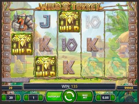 Барабаны игрового автомата Wild Turkey с дикими символами